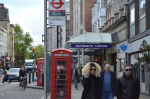 a picture of bayswater tube station